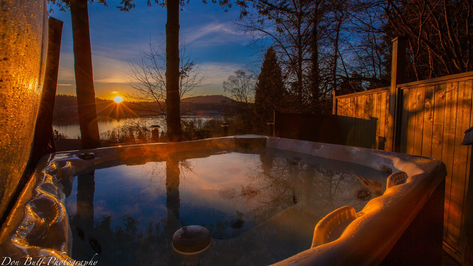 Hot Tub Sunset FS